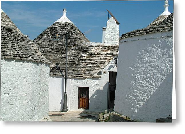 Greeting Card featuring the photograph Trulli Houses Alberobello Italy by Joseph Hendrix