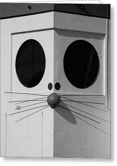 Truly Nolen Rat In Black And White Greeting Card by Rob Hans