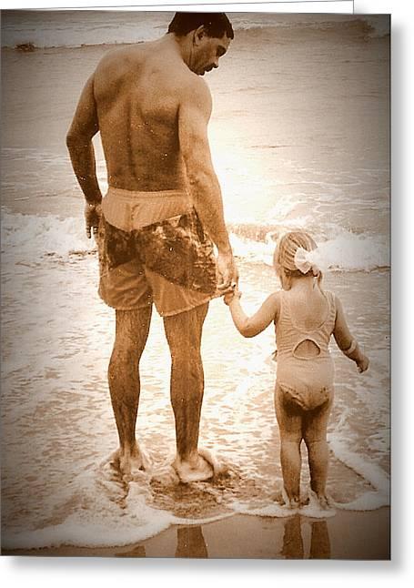 Trusting Daddy Greeting Card