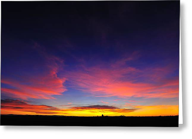 Try To Set The Night On Fire Greeting Card by Richard Leon