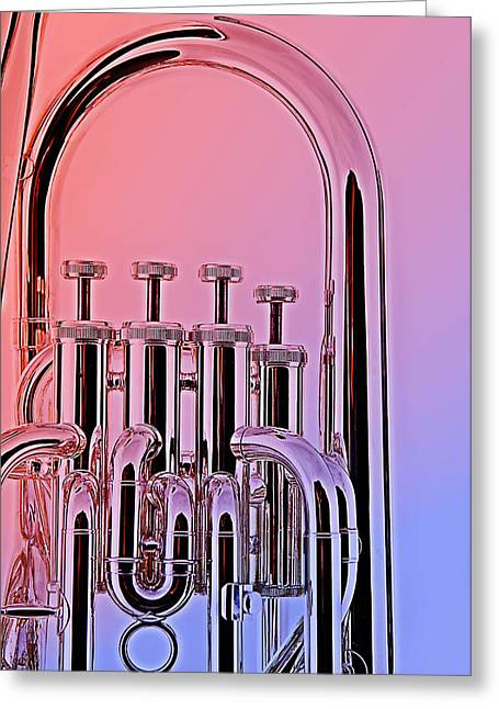 Tuba Euphonium Valves Isolated Greeting Card by M K  Miller