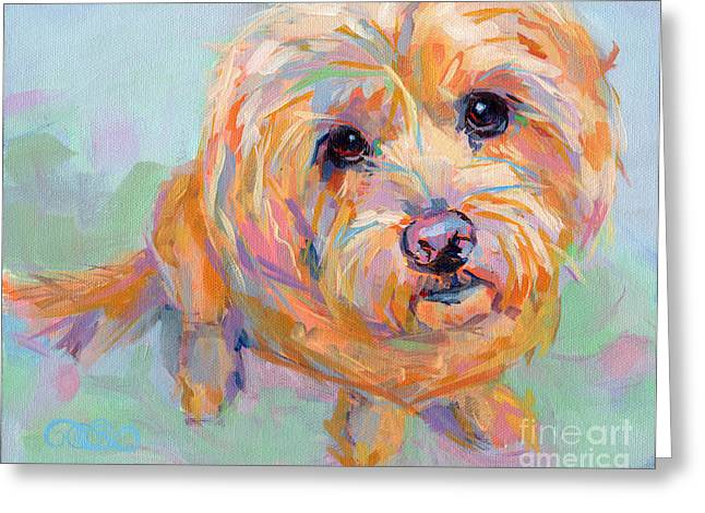Tucker Greeting Card by Kimberly Santini