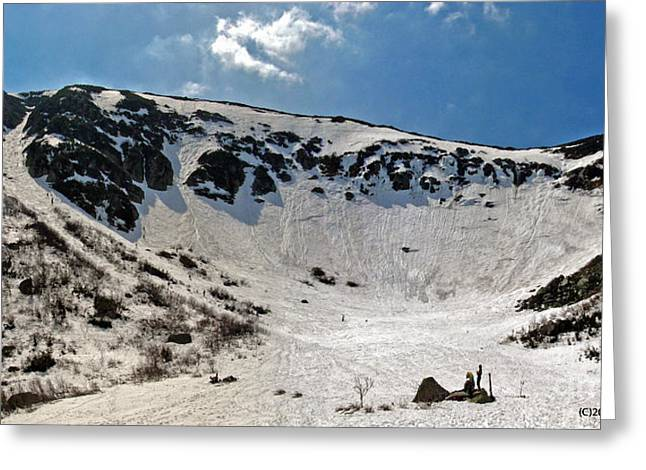 Tuckermans Ravine Greeting Card