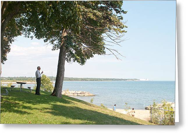 Tuesday Afternoon On The Oshawa Lakeshore Greeting Card by Gary Chapple