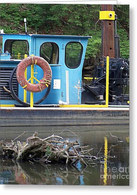 Tug Boat Greeting Card by Tammy Ishmael - Eizman