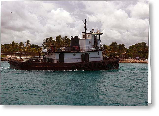 Tug Mark Greeting Card by Ken  Collette