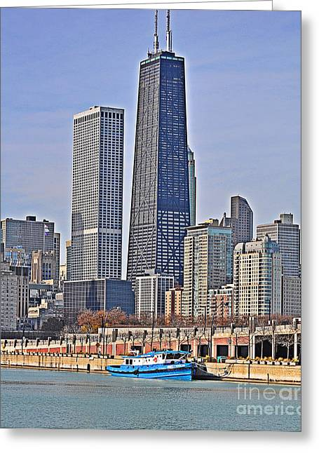 Tugboat On The Chicago River Greeting Card by Mary Machare