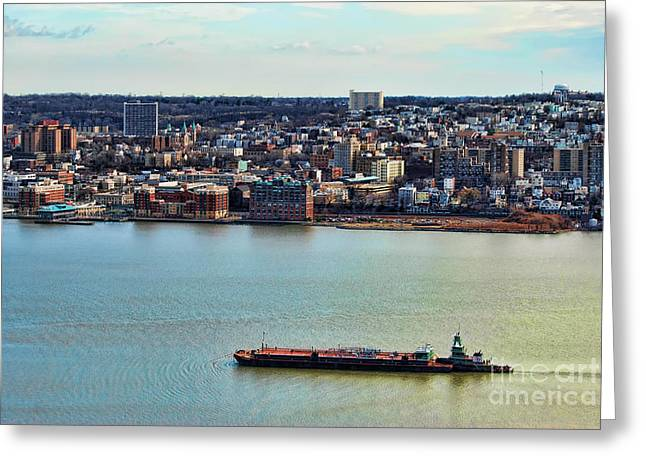 Tugboat On The Hudson Greeting Card