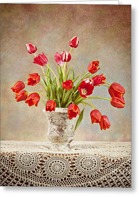 Greeting Card featuring the photograph Tulip Bouquet by Cheryl Davis