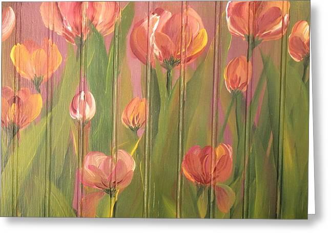 Tulip Field Greeting Card by Kathy Sheeran