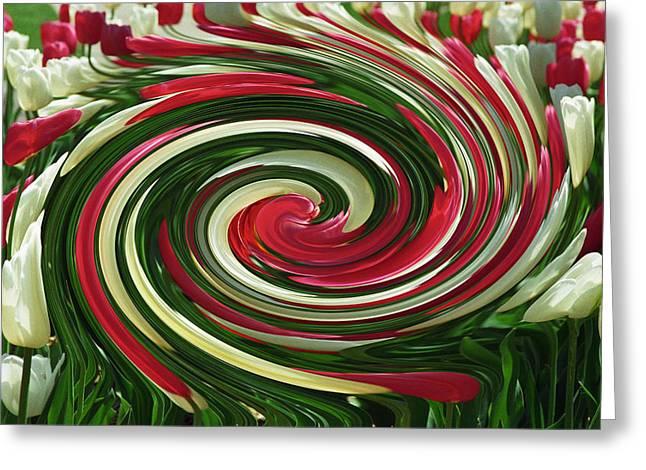 Tulip Tornado Greeting Card by Rick Rauzi