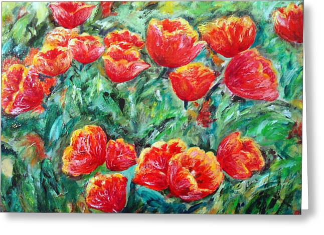 Tulips Expression Greeting Card