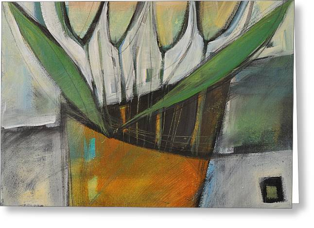 Tulips In Terracotta Greeting Card by Tim Nyberg