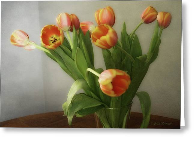 Greeting Card featuring the photograph Tulips by Joan Bertucci