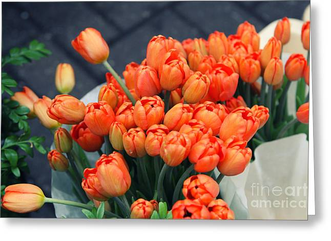 Tulips Greeting Card by Leslie Leda