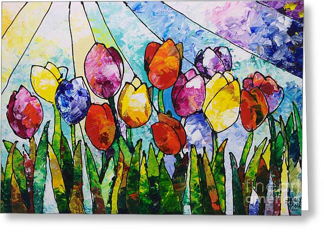 Tulips On Parade Greeting Card
