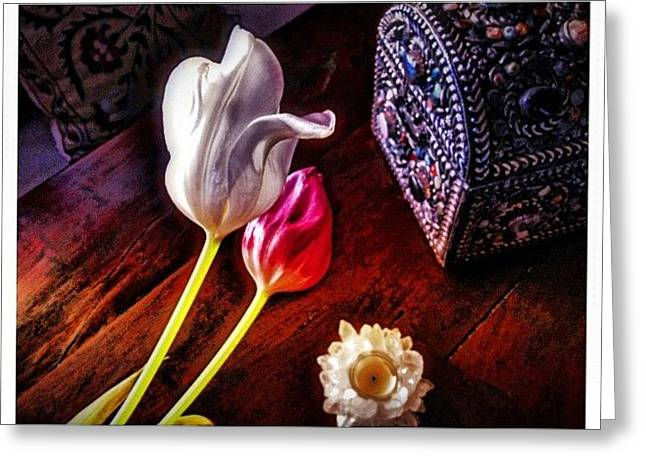 Tulips With Jeweled Chest Greeting Card