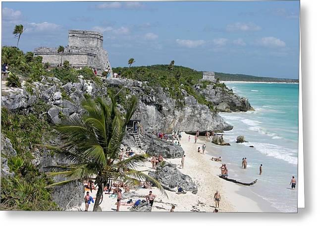 Tulum Ruins And Beach Greeting Card