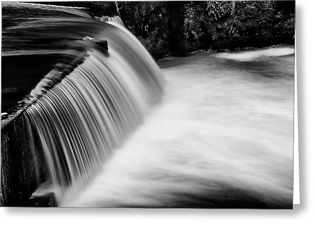 Tumwater Falls In Bw Greeting Card by Joe Urbz