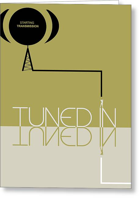 Tuned In Poster Greeting Card