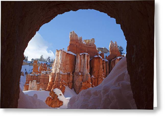 Greeting Card featuring the photograph Tunnel In The Rock by Susan Rovira