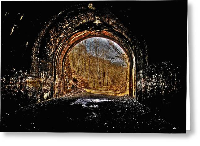 Tunnel Of Gold Greeting Card by Shirley Tinkham