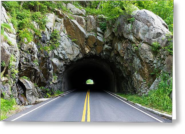 Tunnel On A Lonely Road Greeting Card