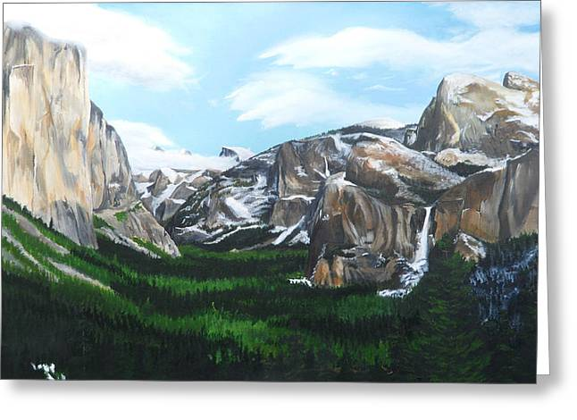 Tunnel View Greeting Card by Travis Day
