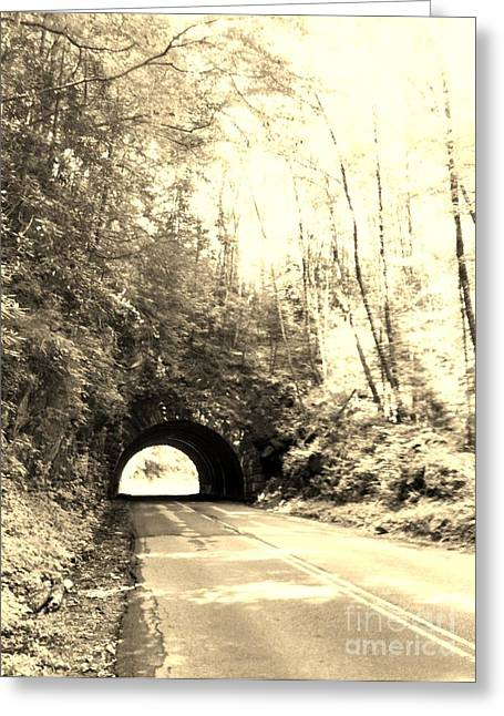 Tunnel Vision Greeting Card by Janice Spivey