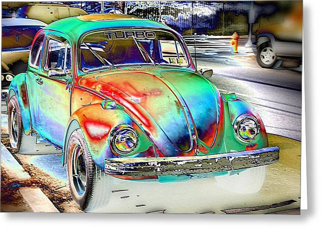 Turbo Bug Greeting Card
