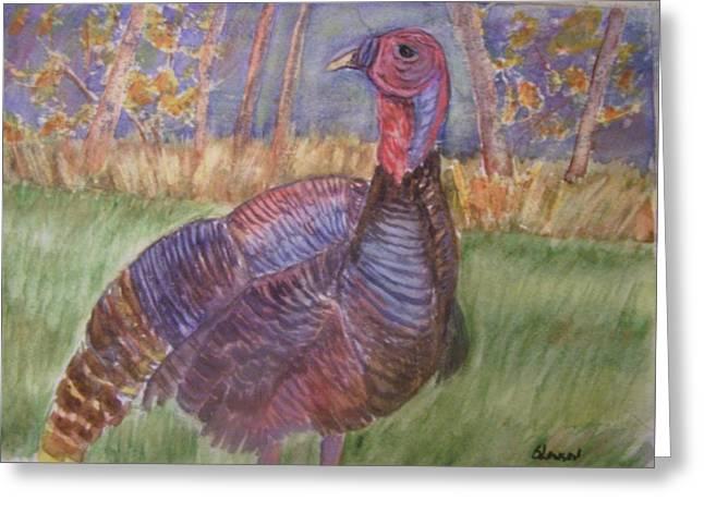 Turkey Call Greeting Card by Belinda Lawson