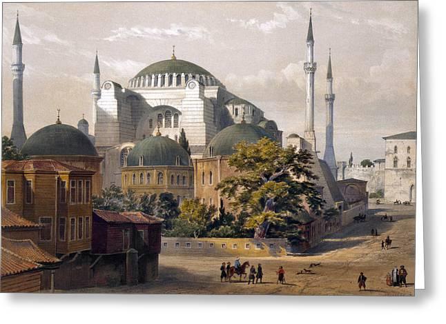 Turkey: Hagia Sophia, 1852 Greeting Card