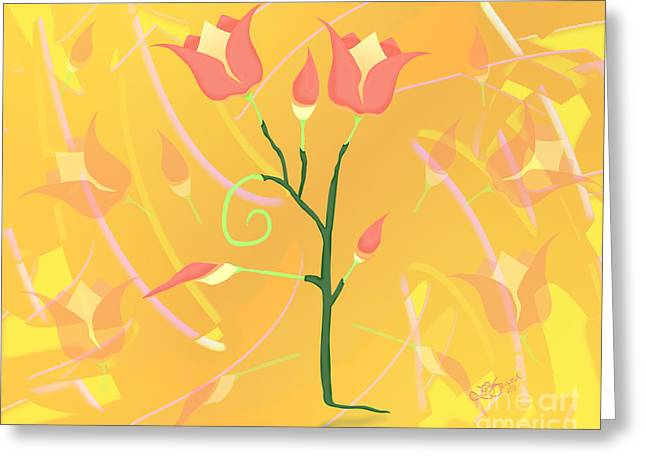 Turkish Poppy Greeting Card by Linda Seacord