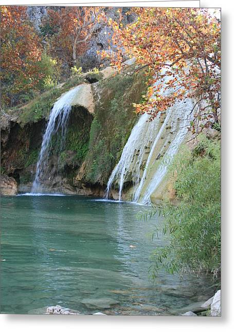 Turner Falls Greeting Card by Jessica Jandayan
