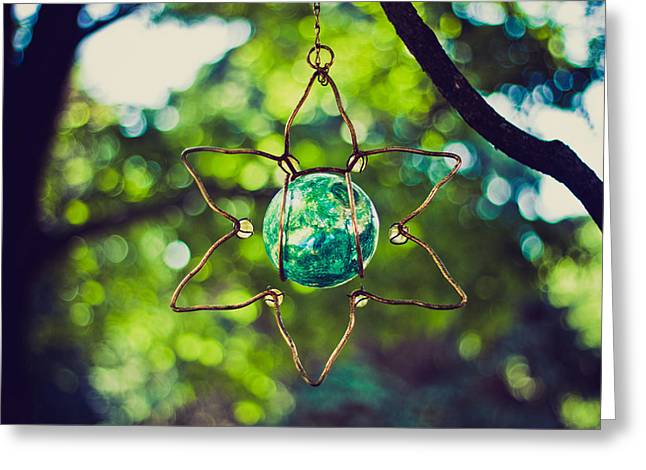 Greeting Card featuring the photograph Turquoise Light by Sara Frank