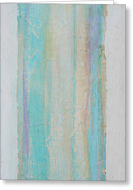 Turquoise Remembrance Door   Tribute To Hari Thomas Greeting Card by Asha Carolyn Young