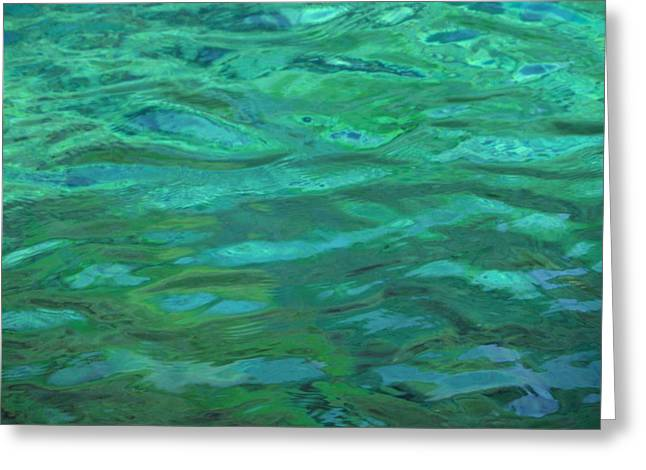 Turquoise Ripples Greeting Card by Mark Lehar