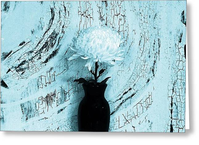 Turquoise Single Mum Greeting Card by Marsha Heiken