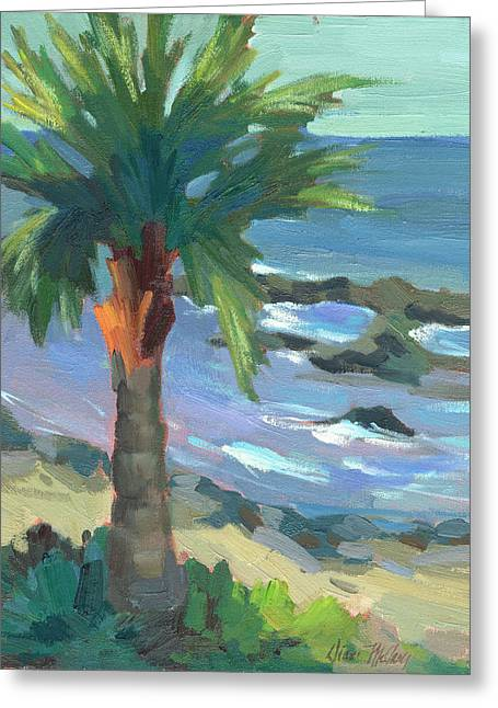 Turquoise Water Greeting Card by Diane McClary