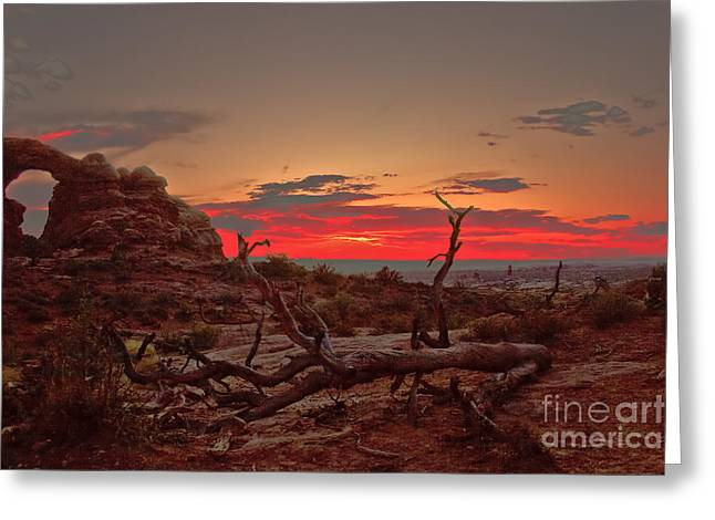 Turret Arch Sunset Greeting Card