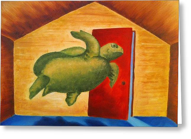 Turtle Entrapment Greeting Card