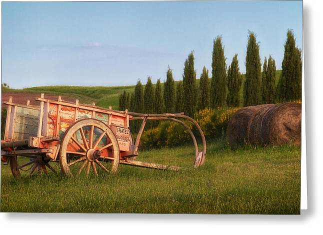 Tuscan Evening Greeting Card by Daniel Sands
