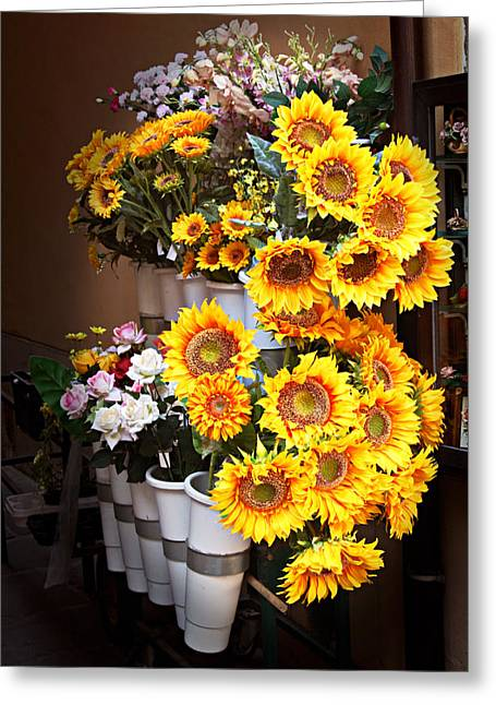 Tuscan Flower Stand Greeting Card