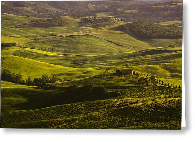 Tuscan Hills Greeting Card by Andrew Soundarajan