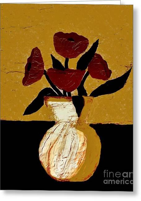 Tuscan Poppies Greeting Card by Marsha Heiken