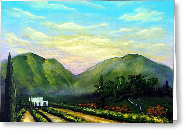Tuscany Light Greeting Card by Larry Cirigliano