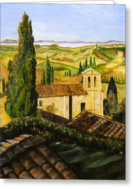 Tuscany Ll Greeting Card by Maureen Pisano