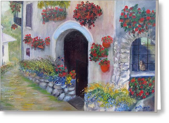 Tuscany Street Greeting Card by Loretta Luglio