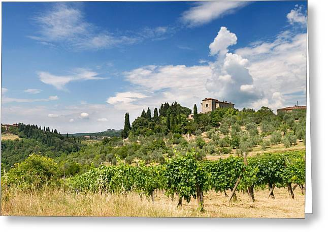 Tuscany Villa In Umbria Italy  Greeting Card by Ulrich Schade