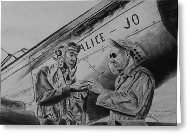 Tuskegee Airmen Greeting Card by Brian Hustead